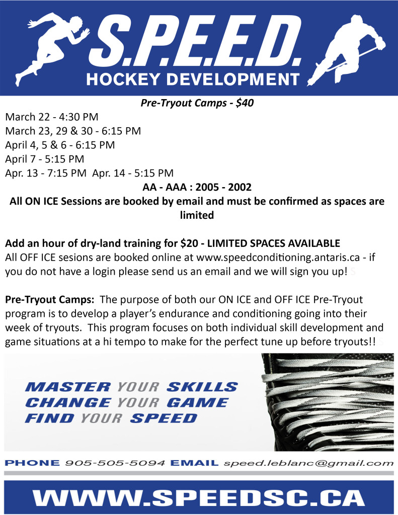 Pre Tryout Details